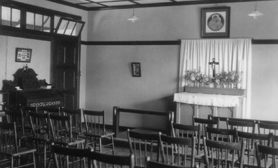 Image for photo: 1927-30s Oldest photo of original chapel in Boarding House.jpg