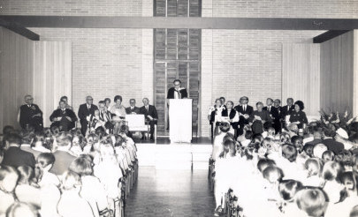 Image for photo: 1972 Opening of the Junior School in Grey Street by Sir John Crawford.jpg