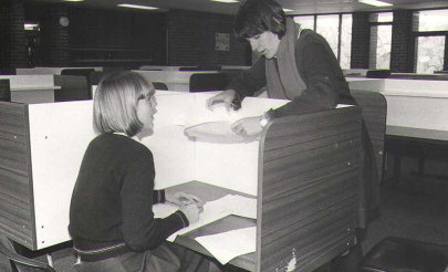 Image for photo: 1981 Library carrel.jpg