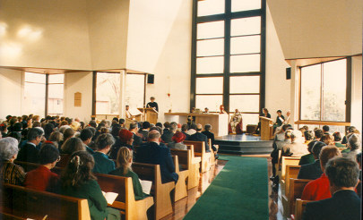 Image for photo: Consecration of Chapel 17.6.1988 - before OGA window.jpg
